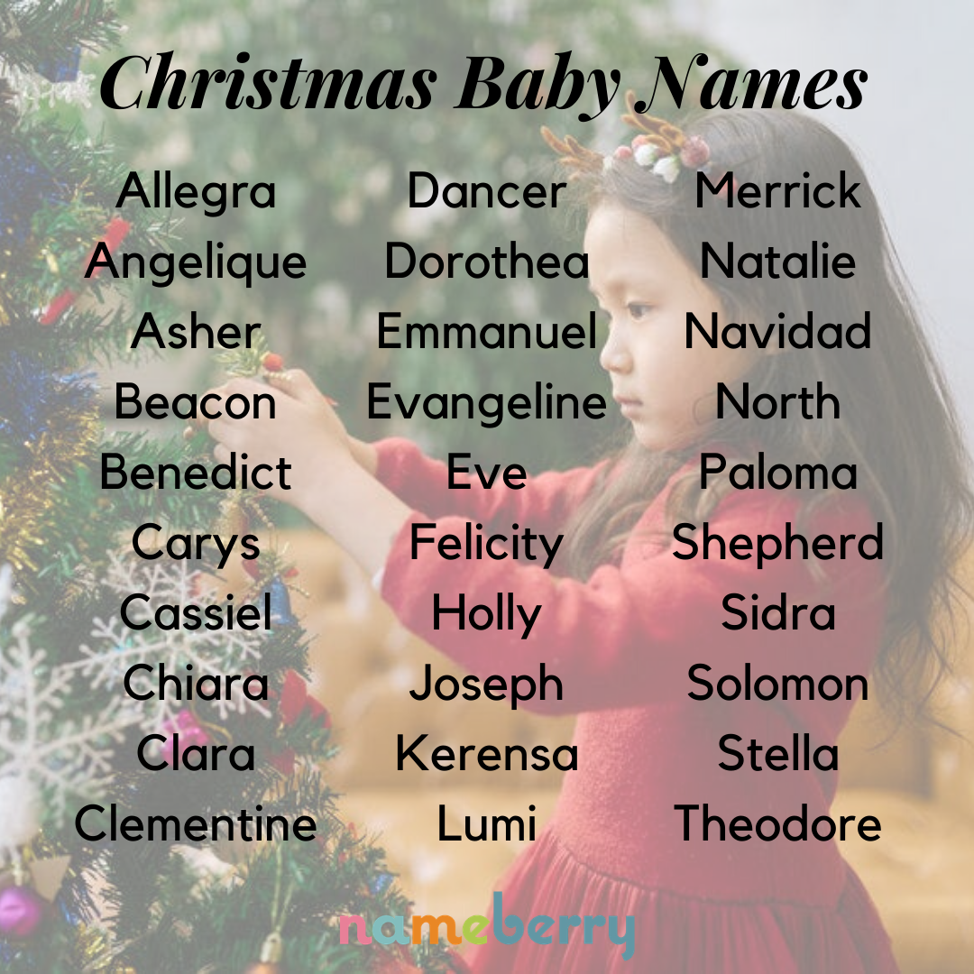 Christmas Baby Names Christmas Baby Names Cute Baby Names Baby Names