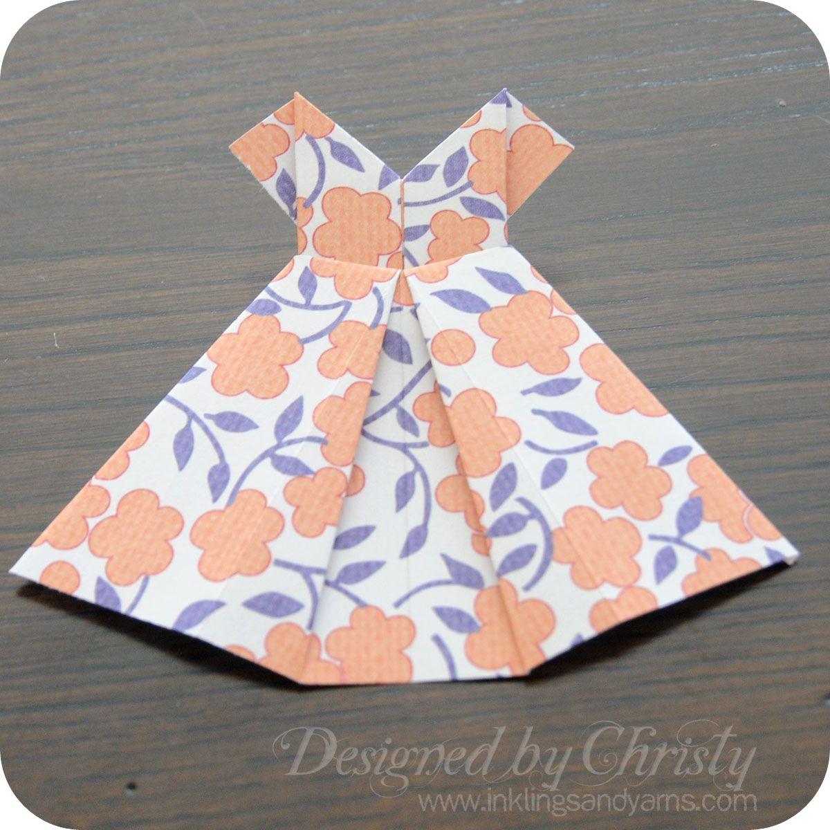 Origami dress paper crafty pinterest origami dress origami origami dress jeuxipadfo Choice Image