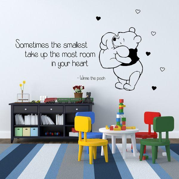 Muursticker Winnie The Pooh.Winnie The Pooh Muursticker Sticker Vinyl 6 Van G Direct Op Dawanda