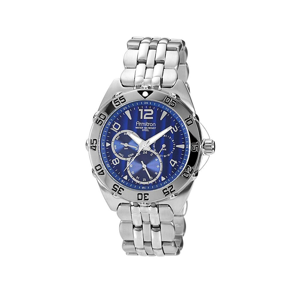 Armitron Men's Blue Dial Multifunction Stainless Steel