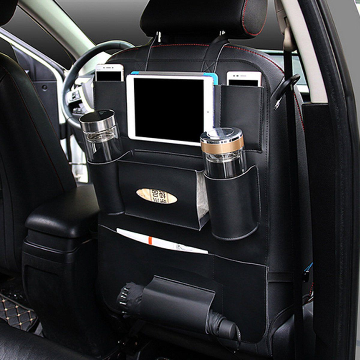 Auto Back Seat Umbrella Holder Hanger Waterproof Umbrella Organizer Storage Bag
