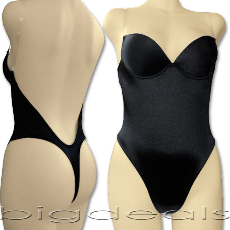 Backless full body shaper tanga convertible sin problemas de espalda baja max escote 9001 - Body interior espalda descubierta ...