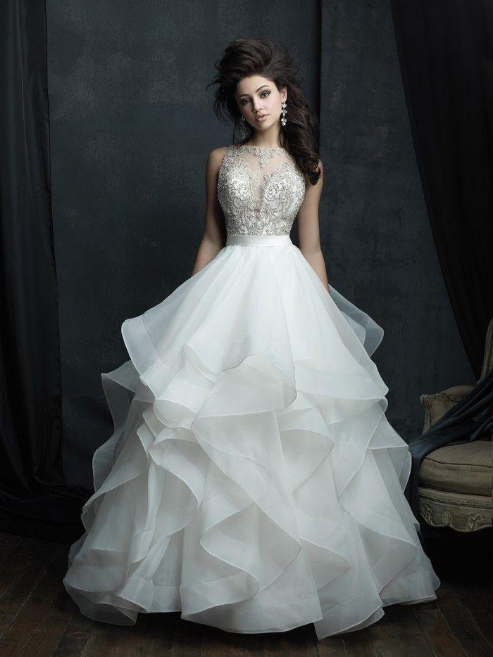 Allure Couture - C380 | Jaehee Bridal Atelier    #ballgown #scoop #sleeveless #bridal #weddingdress