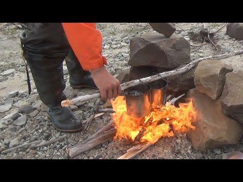 Костёр для сильного ветра - YouTube