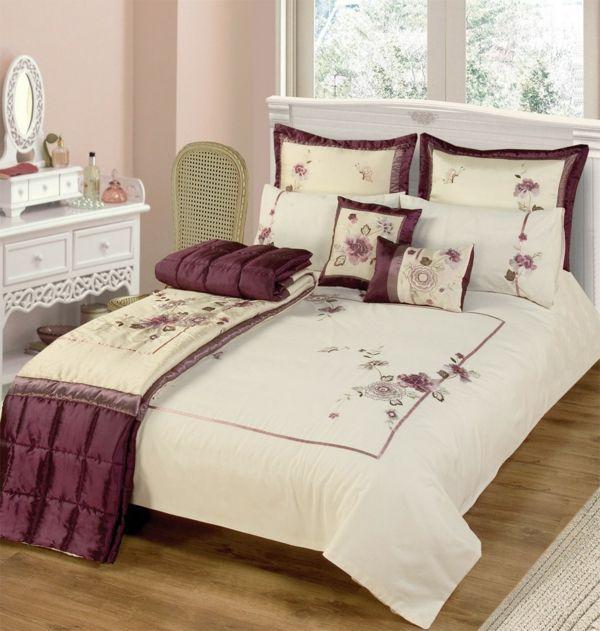 blumen bettwäsche elegante bettwäsche schlafzimmer einrichten ...