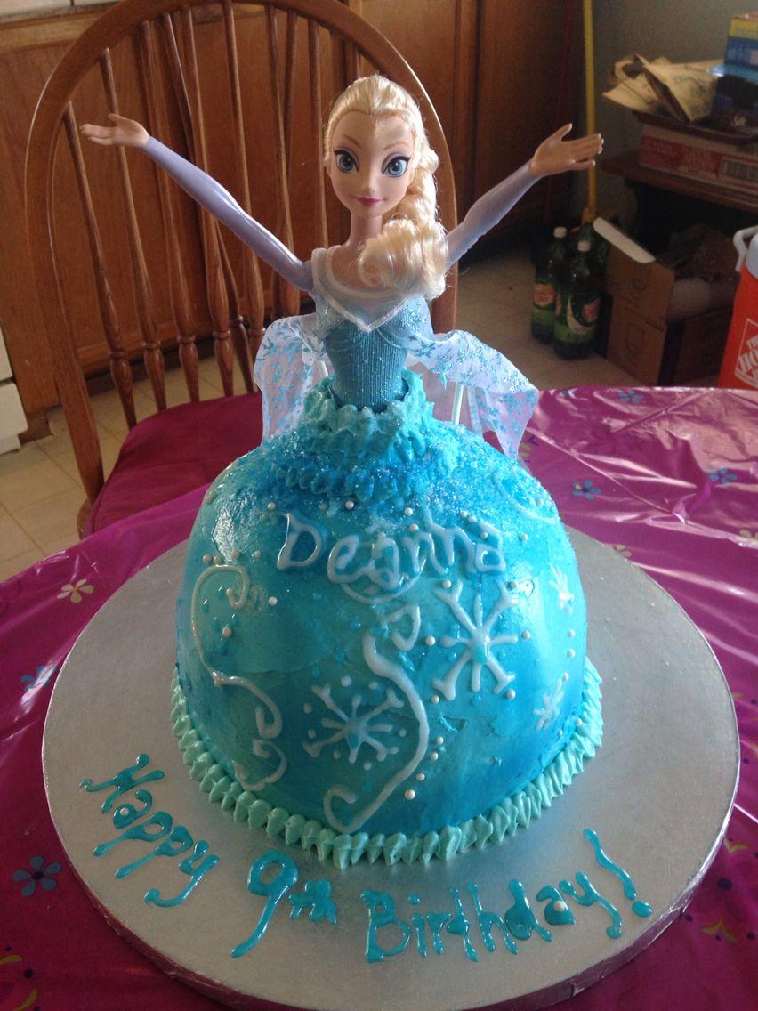 Homemade Elsa cake Elsa cakes, Elsa, Celebration party