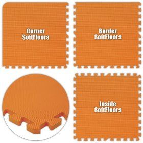 Alessco SFOE3238 SoftFloors -Orange -32 x 38 Set