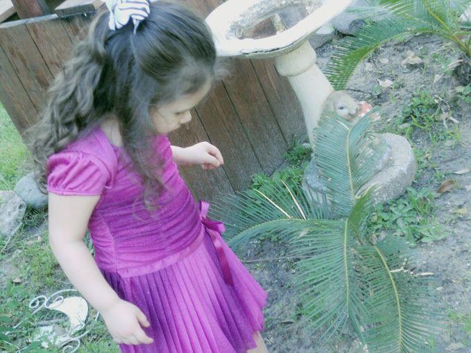 Hailey my niece in her purple dress