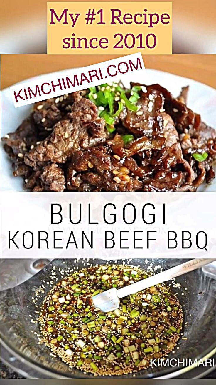 Bulgogi - Authentic Korean Beef BBQ | Recipe in 2020 (With ...