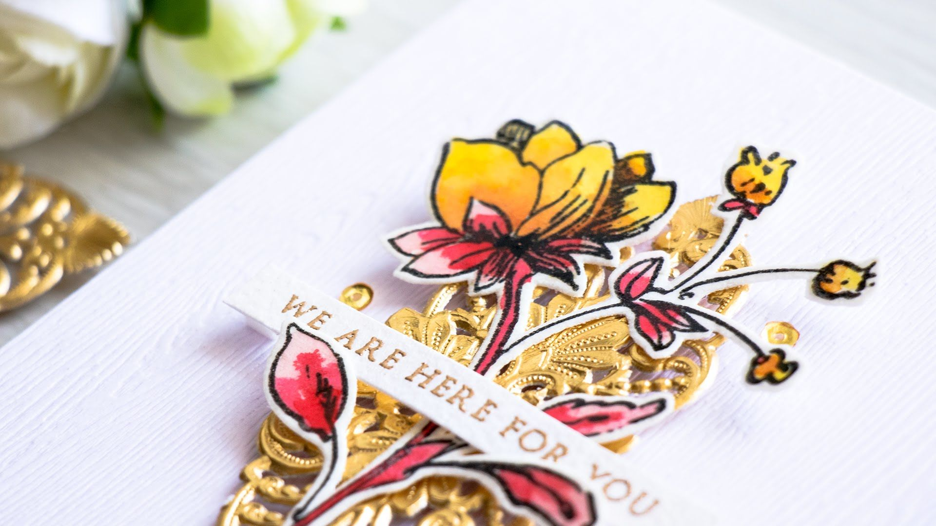 Intensify Watercolor with Clear Embossing
