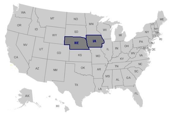 BASIC Grade 11 This map of the United States with the states of