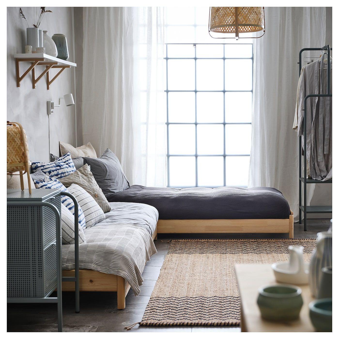 IKEA UTÅKER Stackable bed with 2 mattresses pine, Meistervik
