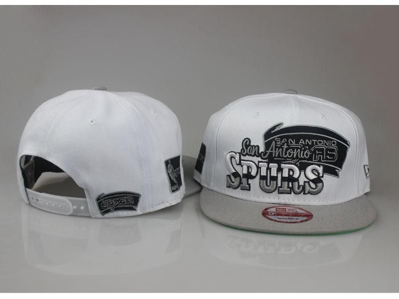 5734ec05613 ... Mens San Antonio Spurs New Era NBA Hardwood Classics Splitier 9FIFTY  Snapback Cap - White ...