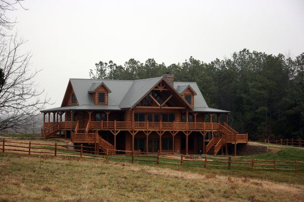 Tennessee Log Home By Honest Abe Log Homes Inc Moss Tennessee Pinned With Pinvolve Log Homes Log Home Living Cozy Cabin Decor