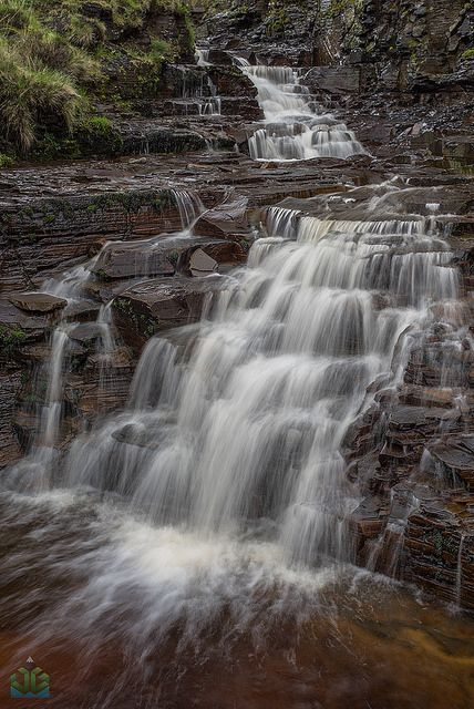 Grindsbrook Clough Waterfall by James G Photography, via Flickr