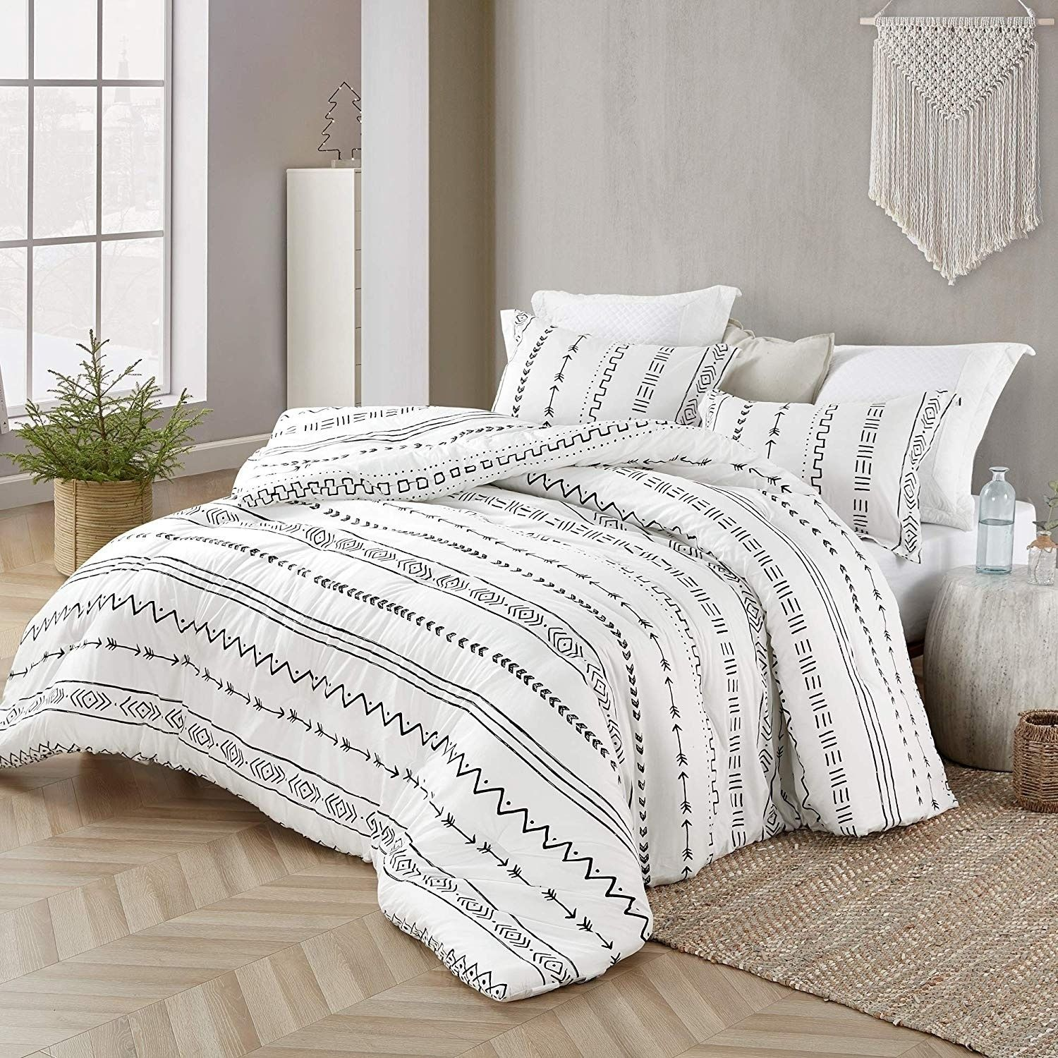 Arrow Black And White Comforter 100 Cotton Queen Standard Sham