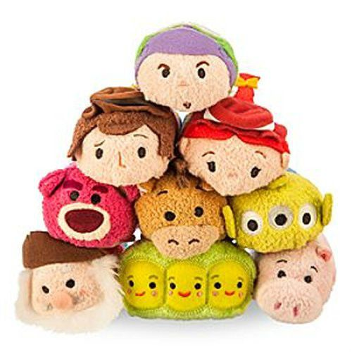 "Disney Tsum Tsum Mini Plush 3 1/2"" Toy Story 9 Piece Full"