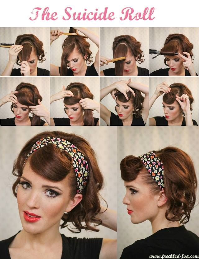 Another Great Retro Hairstyle Retro Hairstyles Hair Styles Rockabilly Hair