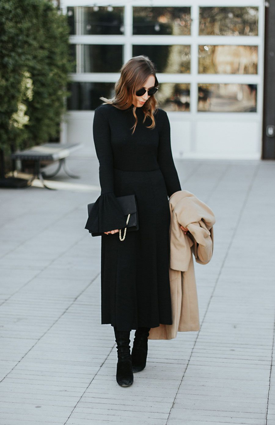 A long black dress perfect for the holidays long black black