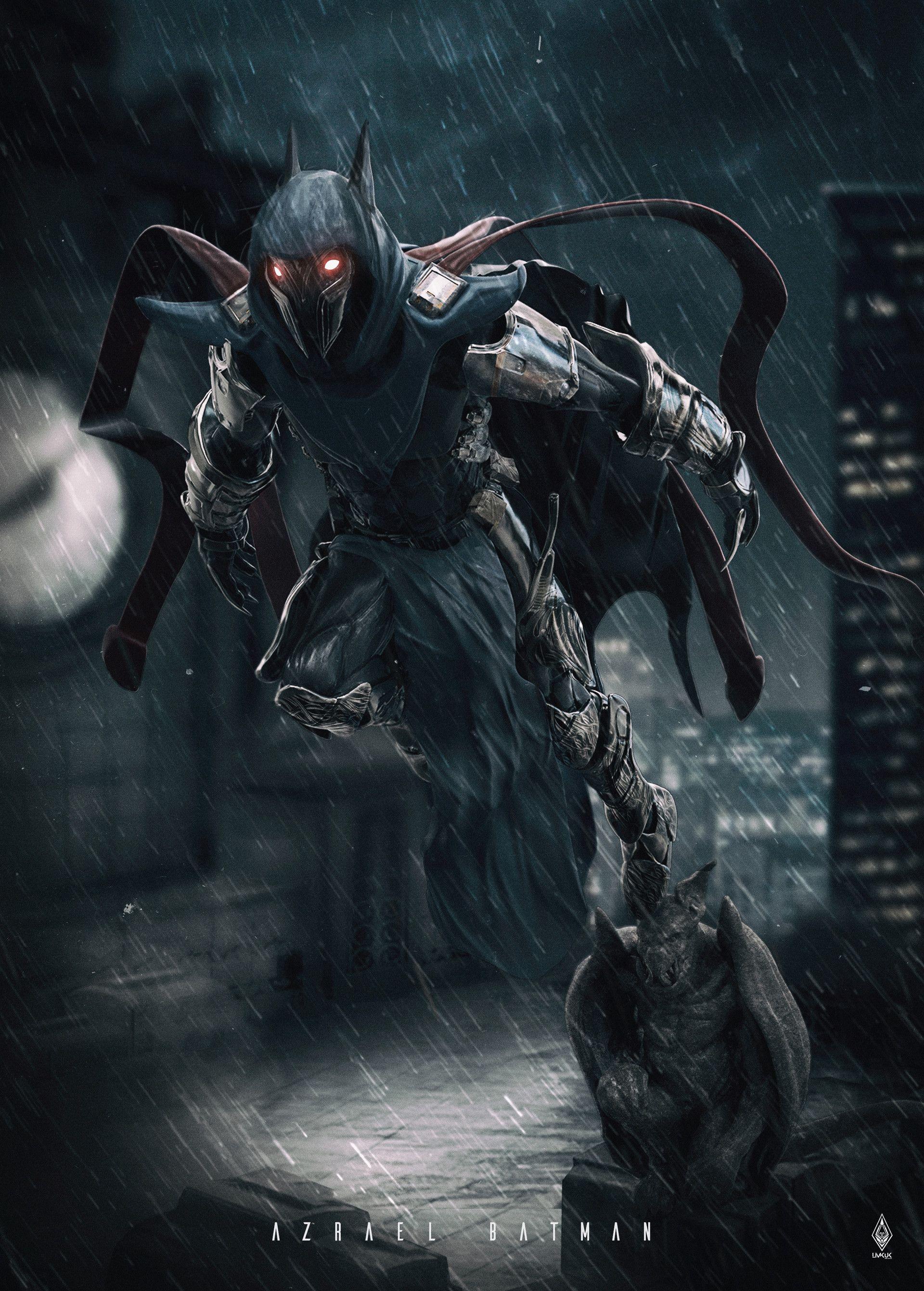 Artstation - Batman Azrael Limkuk Art 3d Characters Redesign