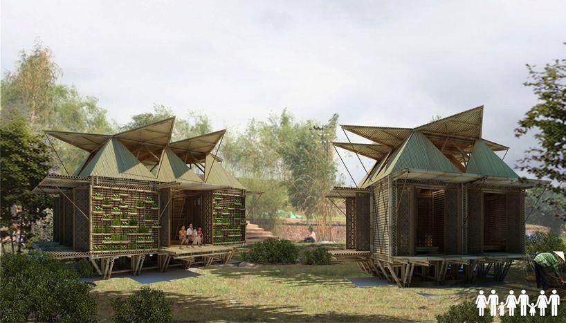 casas de bambu que flutuam em inundaes e custam mil reais
