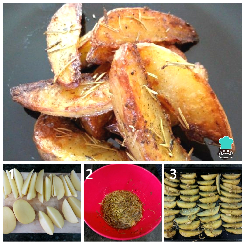 Receta de Patatas al horno con romero