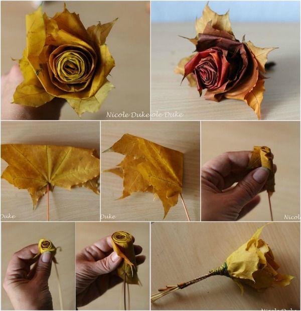 Creative Diy Maple Leaf Roses In 6 Easy Steps Leaf Crafts