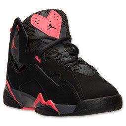 Black · Boys' Grade School Jordan True Flight Basketball Shoes ...