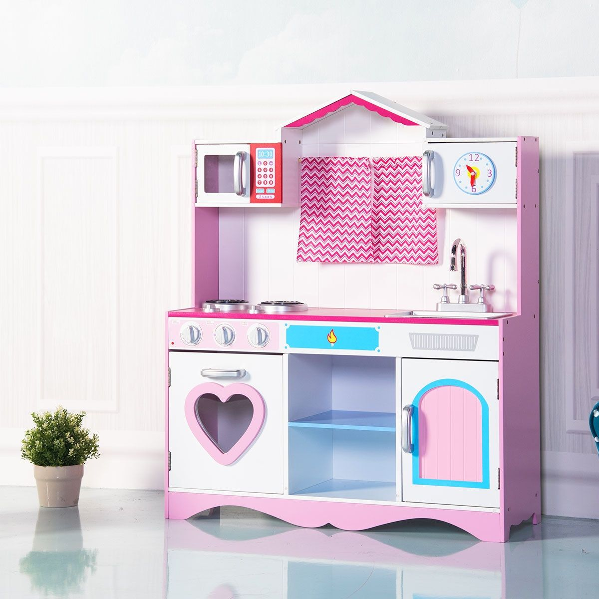 Ad Wood Kitchen Toy Kids Cooking Pretend Play Set Price 234 95