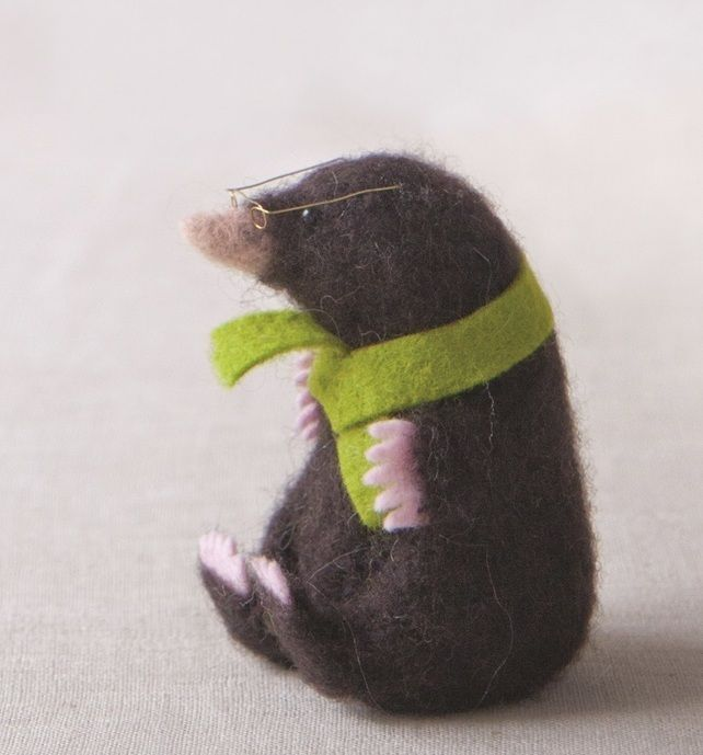 SALE Mole Supply Pack - use with 'Making Needle Felted Animals' book