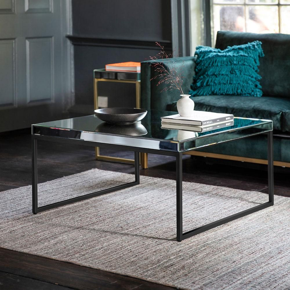 The Designer Coffee Table In Black Mirrored Coffee Tables