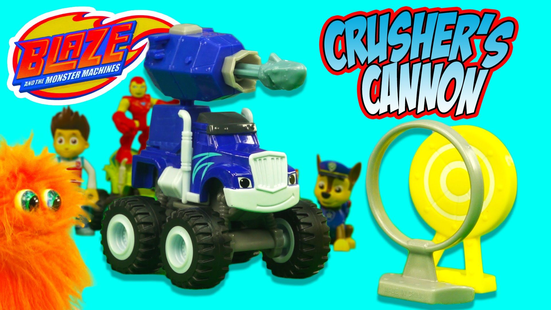 Blaze And The Monster Machines Cannon Blast Crusher Toy Review And