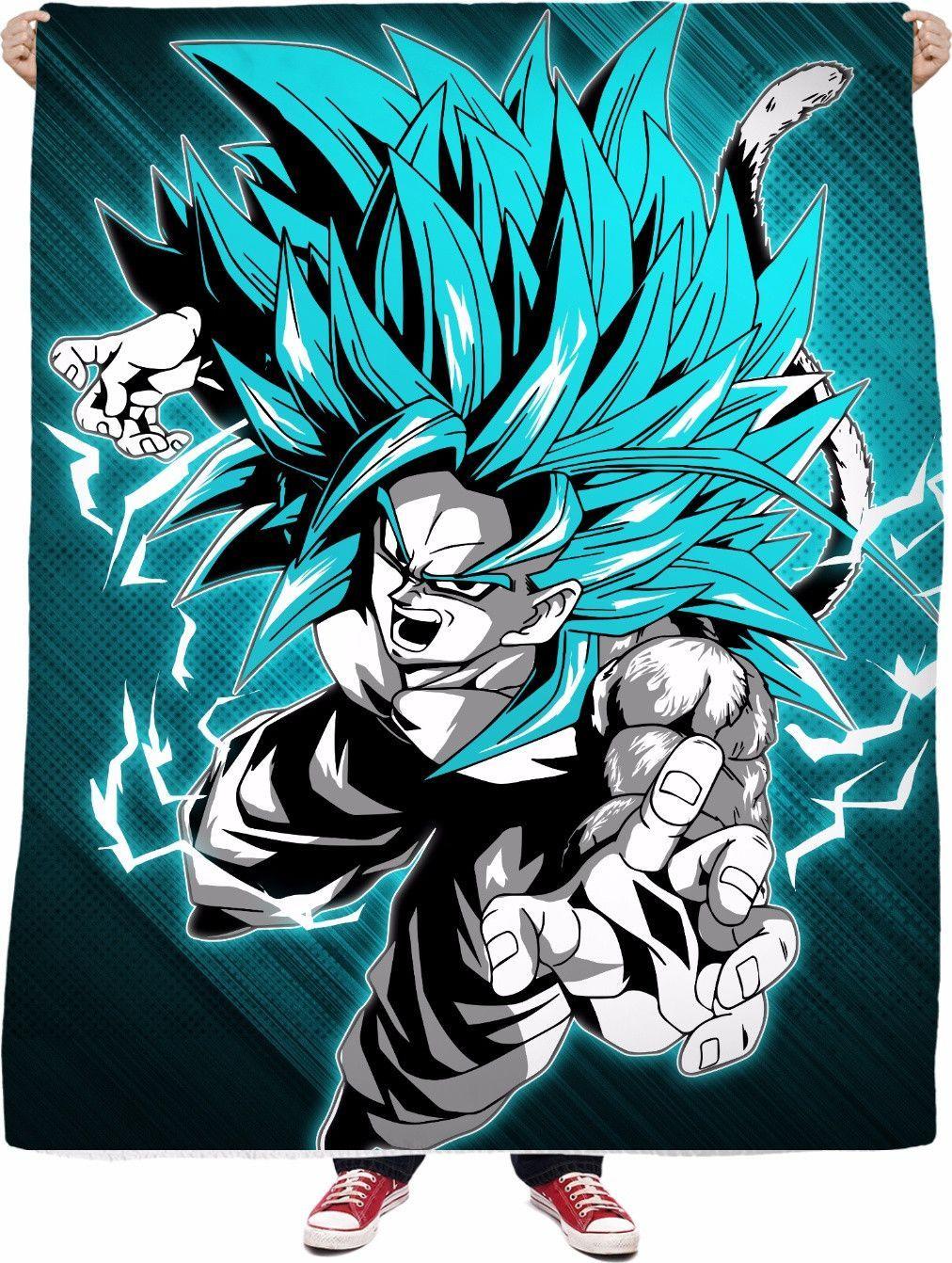 Super Saiyan - Goku SSj 5 - Limited Fleece Blanket ...