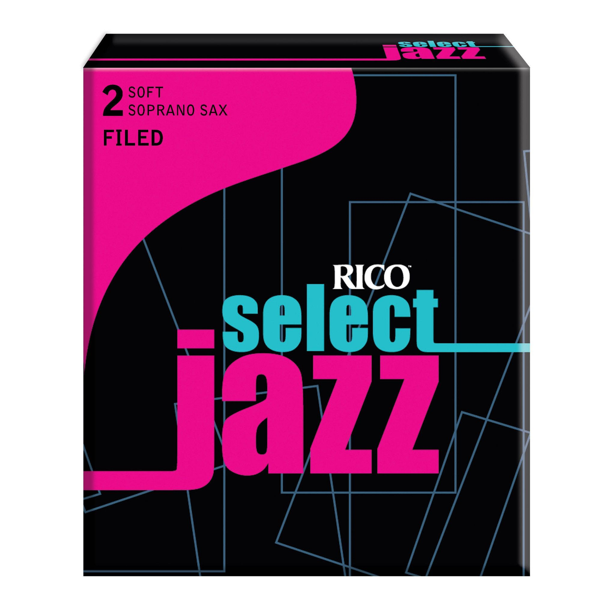 10-pack Rico Select Jazz Alto Saxophone Reeds Filed Strength 3 Medium