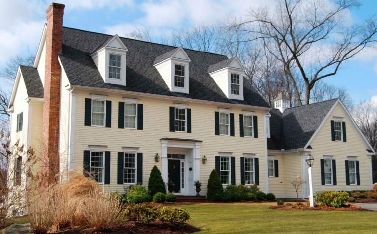 Yellow Colonial House Exterior Exterior Paint Colors For House Colonial Exterior