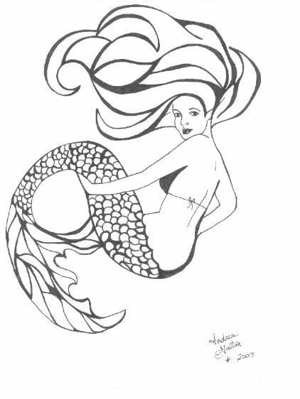 Ed Hardy Coloring Pages Mermaid Tattoo Designs Mermaid Tattoo