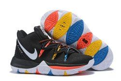 2ca9abb9246 Nike Kyrie Irving 5 Friends BLACK WHITE-BRIGHT CRIMSON-AMARILLO AQ2456 006  Men s