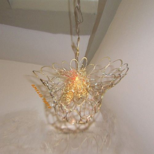 Twisted Wire Rings, artisan lamp  Amelia Taeed