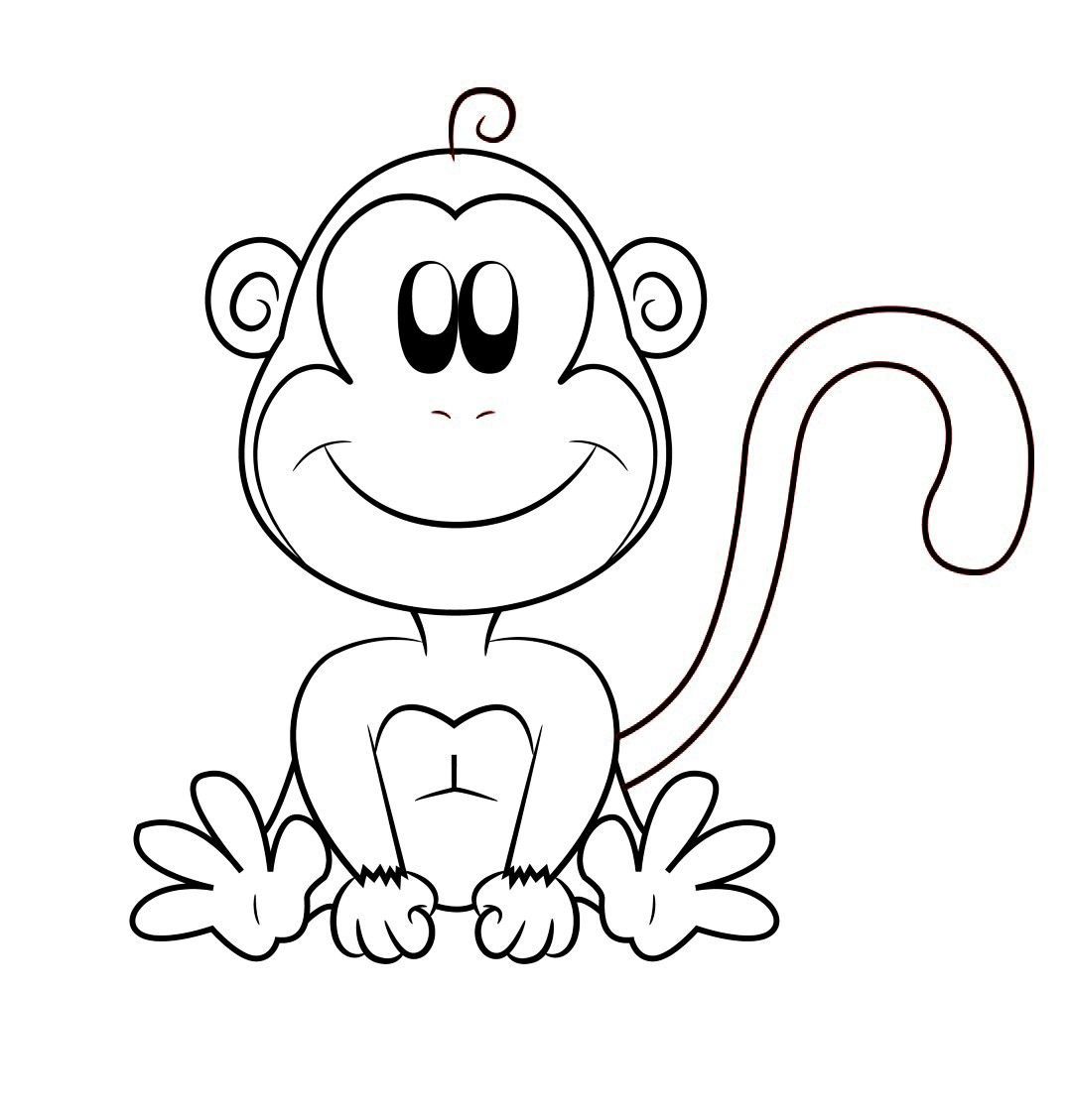 Monkey Cartoon Draw Central Cartoon Animals Pinterest