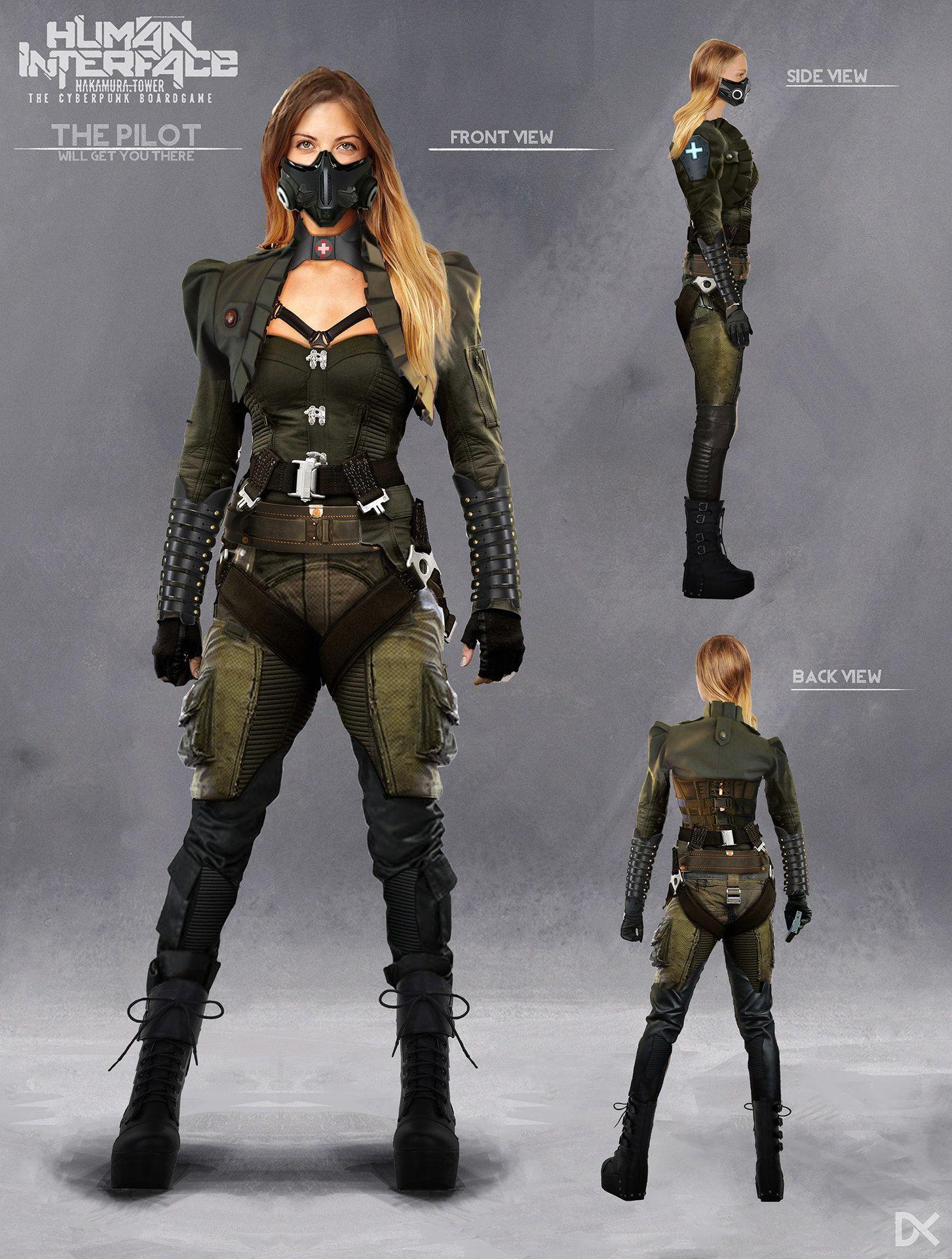 Sci Fi Character Design Tutorial : Darius kalinauskas character concept art scifi cyberpunk