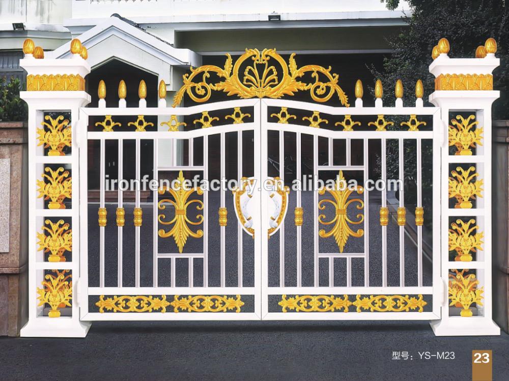 Jard n vallas enrejado utilizado puertas de hierro forjado - Puertas de hierro para jardin ...