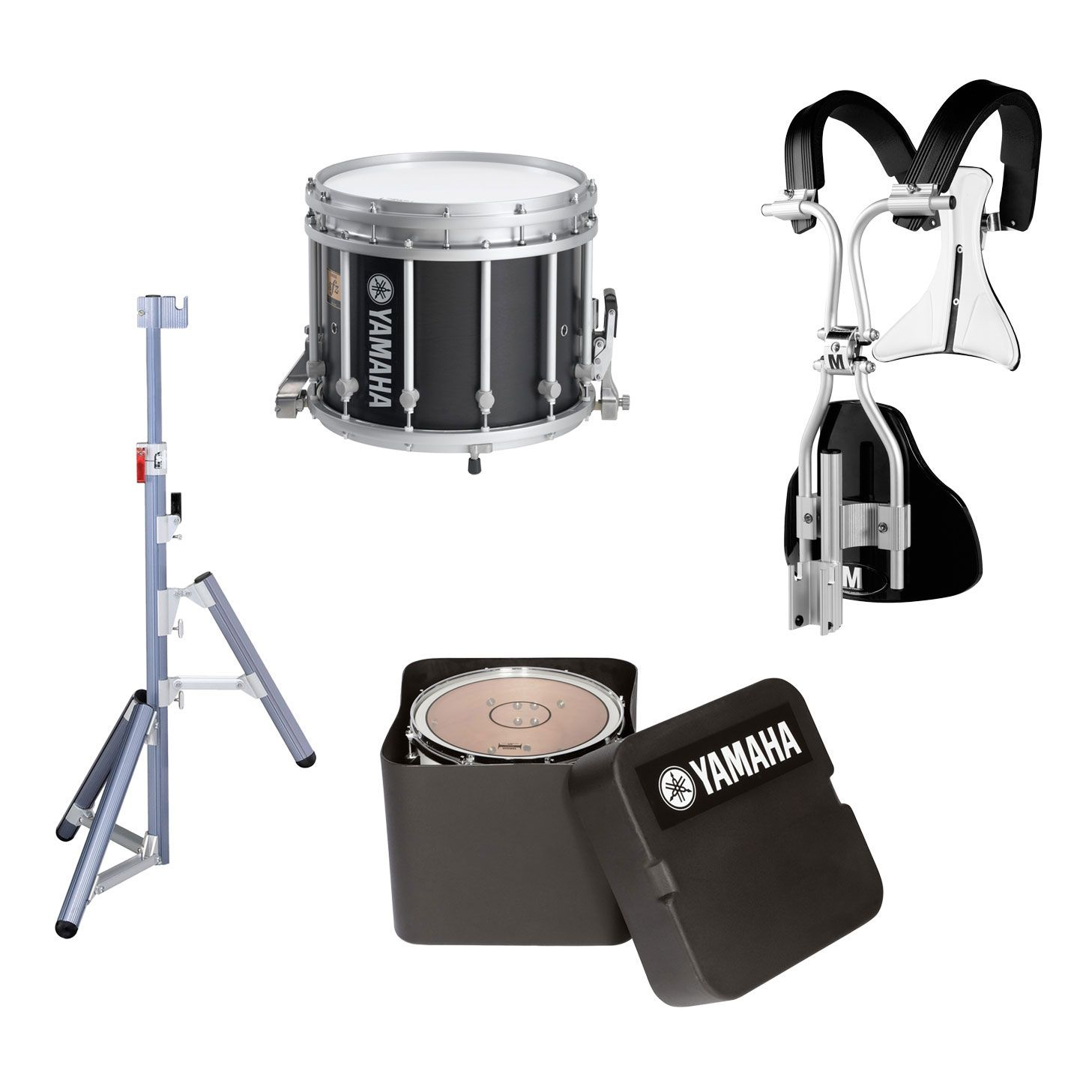 Yamaha 14 X 12 9300 Sfz Marching Snare Drum Chrome Hardware Monoposto Carrier Case And Stand Marching Snare Drum Marching Snare Snare Drum