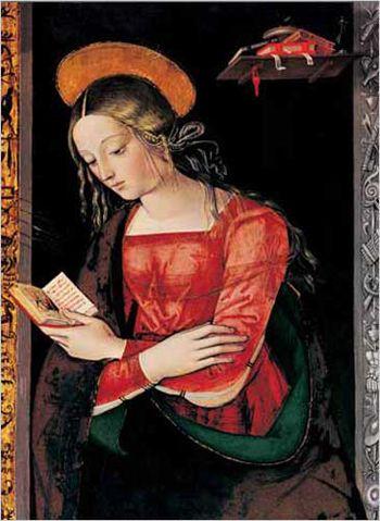 Pinturicchio (1452 ca.-1513) - Vergine annunciata, dettaglio Pala di Santa Maria dei fossi - 1496-1498 - Galleria nazionale dell'Umbria, Perugia