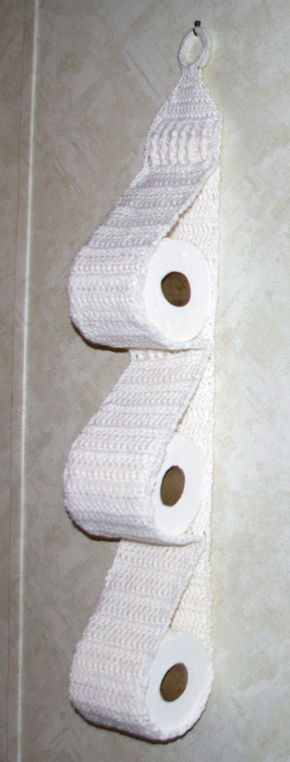 Hanging Three Roll Toilet Tissue Holder Free Crochet Pattern ƭɽღ Http Www Pinterest Com Teretegui Uncinetto Motivo Uncinetto Libero