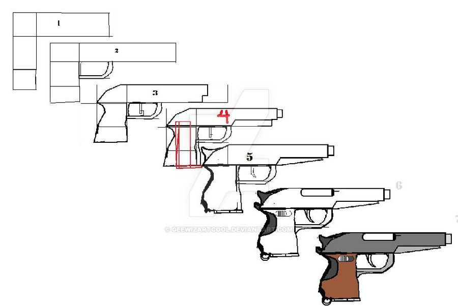 How to draw a simple pistol by geewizartcool can you draw like this