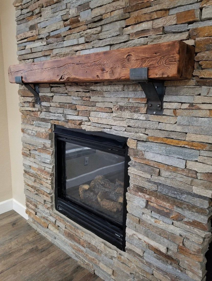 Mantel supports by industrial farm co rustic mantel