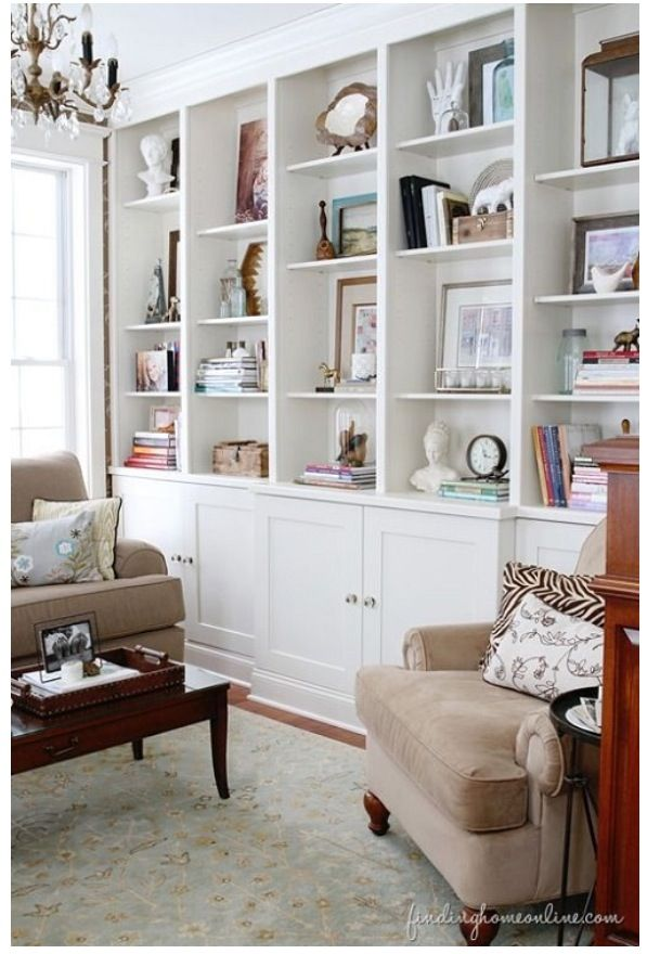 This Unit Has Middle Deeper Than Two Sides Stiles Verticles On Side Bookshelves Are Flush With Front Middle On Bookcase Decor Bookcase Bookshelves Built In #side #cabinets #for #living #room