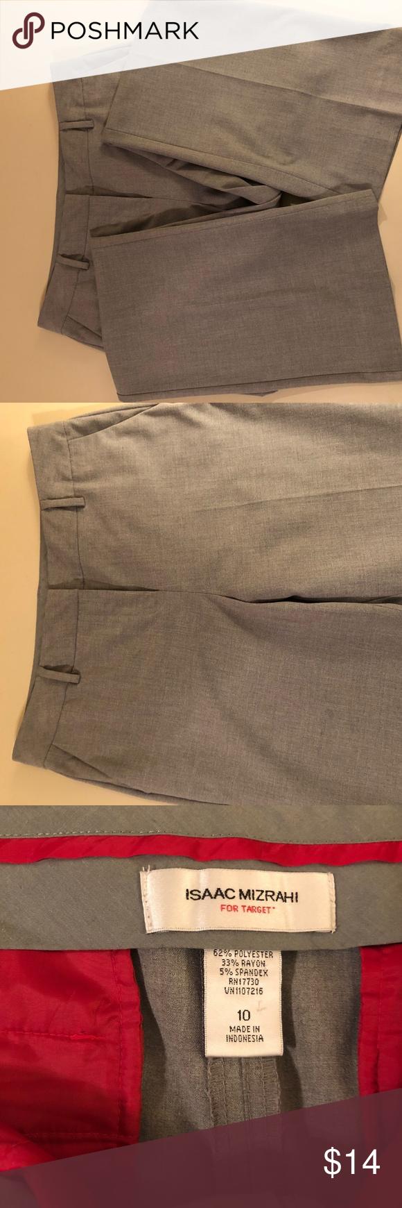 Isaac Mizrahi For Target Women S Grey Dress Pant Womens Grey Dress Grey Dress Pants Womens Gray Dress Pants [ 1740 x 580 Pixel ]