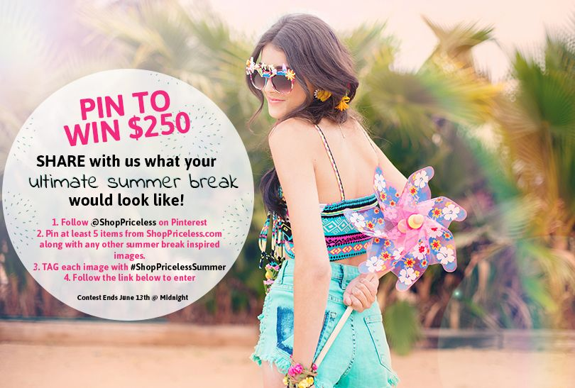 #ShopPricelessSummer We're doing a #pinterest giveaway! #pinItToWinIt be sure to check the image for all the details! :) Click image for submission info!
