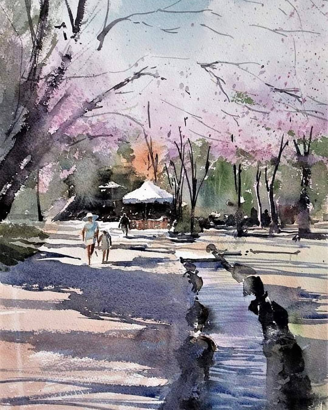 Watercolor Art On Instagram Watercolor By Kazuo Kasai